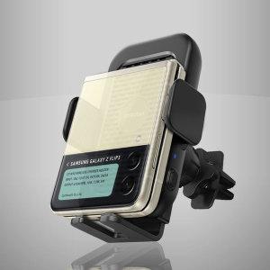 옵시디언 듀얼코일 무선충전거치대 CT-W18 삼성 Z플립3