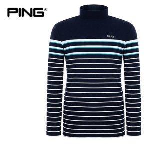 PING  남성 컬러 포인트 스트라이프 티셔츠 11283TI907_NA