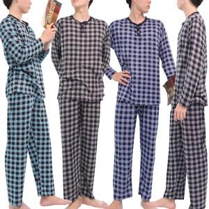 남성 피치기모 체크 잠옷세트 잠옷 파자마 상하 세트