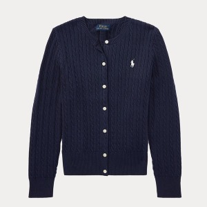 해외정품 폴로 걸즈 꽈베기 스웨터 /버튼 가디건 폴
