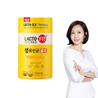 [종근당] 락토핏 5X 생유산균 골드 50포 1통 (50일분)