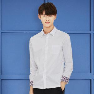 교복왕 남자 와이셔츠 유니크 체크 교복셔츠