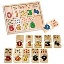 아라비아 숫자퍼즐 수세기 학습 원목 장난감 /브알라