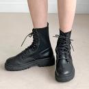 레이스업 워커 여성 삭스 앵클 부츠 신발 키르CR01