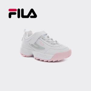 휠라 슈즈   공식  휠라 키즈 디스럽터2 운동화 신발 핑크
