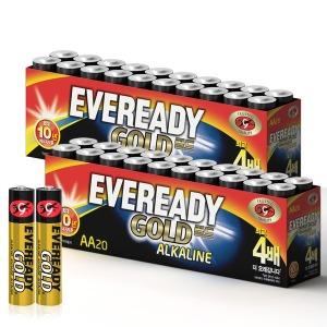 에너자이저 에버레디 알카라인 건전지 AA 20입X2개 - 상품 이미지