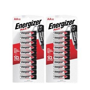 에너자이저 알카라인 맥스 건전지 AA 10입x2개 - 상품 이미지