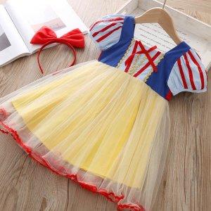 백설공주 큐티리본 드레스 코스튬 어린이 행사 선물