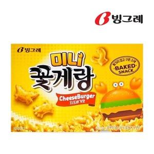 빙그레 미니꽃게랑 치즈버거맛 40g 과자/간식/스낵