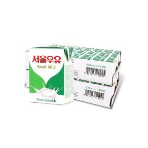 멸균우유 200ml 24입+24입 (2박스) 무료배송