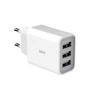 [스카이] 스카이 필 C3 3포트 18W USB 멀티 충전기 어댑터