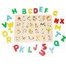 ABC 알파벳 원목 퍼즐 유아 영어학습 장난감 /비가