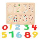 원목 숫자 퍼즐 유아 수학학습 아기 장난감 /비가