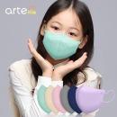 아르떼 새부리형 일회용 컬러 마스크 소형 민트 50매