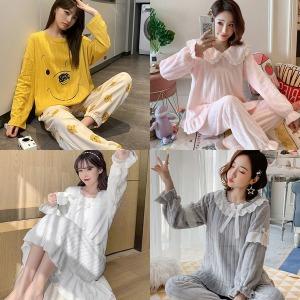 2+1 여성잠옷 홈웨어 가을잠옷 파자마 원피스 잠옷