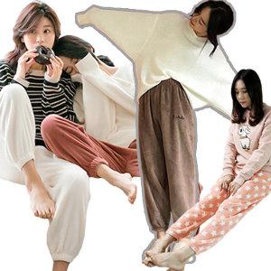 2+1사은품 아동 성인 오버핏 융털 수면바지 잠옷 세트