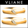 VLIANE 브리앙 18K 세그웨이 다이아몬드 커플링 세트