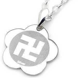 미아방지 불교만자 티타늄 목걸이 아동쥬얼리 선물