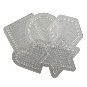 펄러비즈 기본모양판 5종 [선택1종] [투명판] 사각 육각 원 별 하트 모양판 투명판 펄러비즈모양판 비즈판