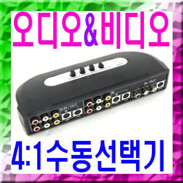 Coms-ASV41SW AV 수동 선택기 4대1 SVHS/Video/2RCA