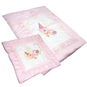 앙뜨벨 삐에로 아기이불.겉싸개 세트-핑크/ 목화솜