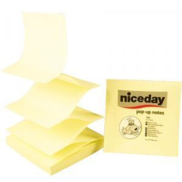 팝업리필(76x76/노랑/100매/NICE DAY)
