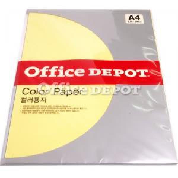 컬러색지 80g(P8/엷은노랑/25매/OfficeDEPOT)