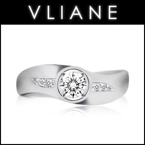 VLIANE 브리앙 14K 유니티 0.3캐럿 다이아몬드 반지