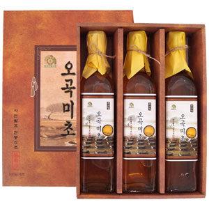 천연발효 전통식초 오곡명초 3병세트(500ml x 3)