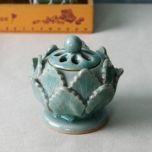 미니향로 향꽂이 촛대 캔들홀더 향받침 도자기 청자