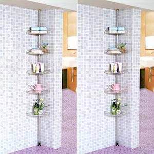 투명 코너3단/욕실수납/욕실용품/욕실장/다용도선반/화장실선반/욕실정리정돈/욕실인테리어/서랍장