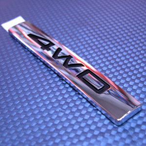 현대모비스 베라크루즈 4WD 순정 사각 엠블렘(크롬) 4WD엠블렘 베라크루즈4WD마크 모비스4WD엠블렘