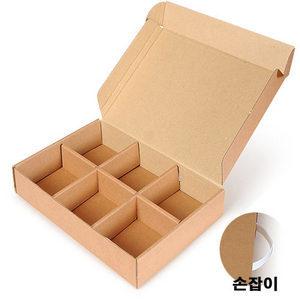 [선물상자/박스]6구 /28.5 X19.5 X4.5 cm/높이]손잡이가 있습니다/100장