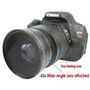 Wide-Angle / MACRO Converter for Canon Digital Rebel and Olympus Evolt