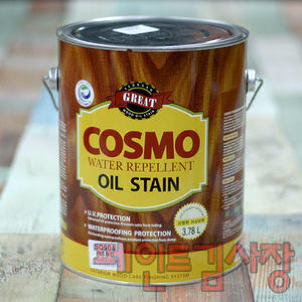 코스모오일스테인/3.3L/방부방목방충/페인트김사장