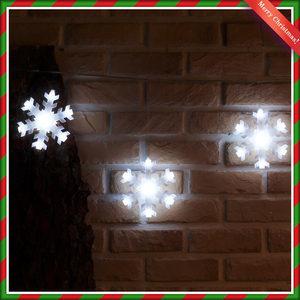 120구 투명선LED 눈결정 백색전구(2.7M 점멸有)/크리스마스트리츄리/장식전구장식램프조명실외실내인테리어