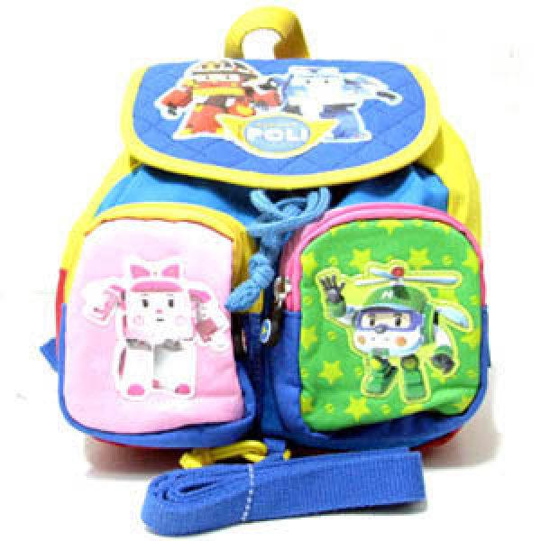 늘푸른백화점 DJR101 로보카폴리 유아 소풍배낭 여행 유치원 어린이집 학원 캐릭터가방 미아방지용품