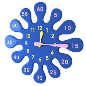 파랑물방울시계-5분이면 시계읽기 충분  무소음무브먼트