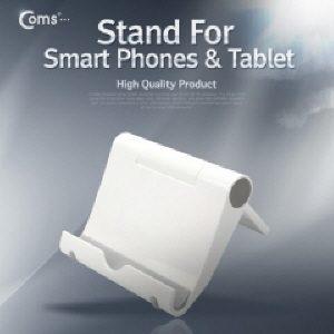 [IT548] 스마트폰 스탠드  태블릿 겸용 접이형 White - 휴대 간편  스탠드 각도 자유롭게 조절 가능