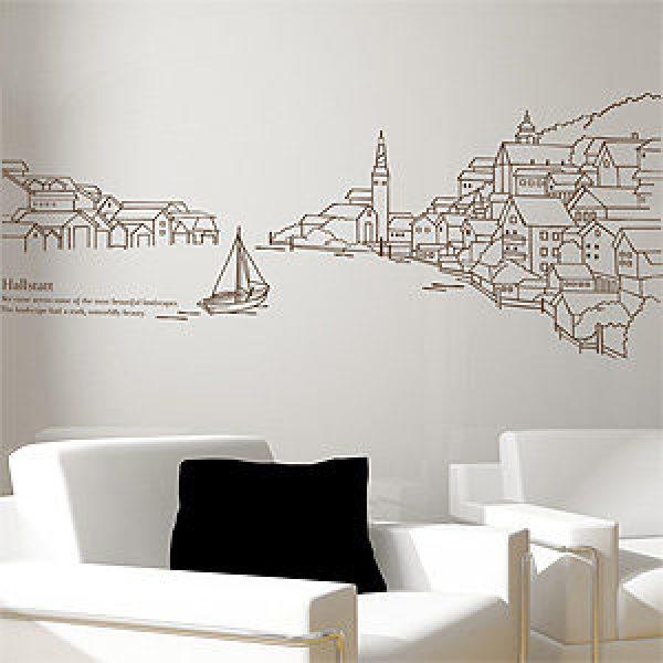 할슈타트 포인트그래픽스티커 카페 커피숍 시트지 아이방 꾸미기 벽장식 집꾸미기 유치원 어린이집 외국
