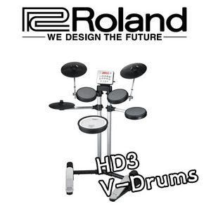[피스뮤직]Roland HD-3/HD3/V-Drum/전자드럼/HD-1후속/최저가 전자드럼/앰프증정이벤트