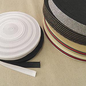 고무줄 - 허리  손목  발목  밴드용 (다양한 폭 / 다양한 길이 / 묶음단위 / 흰색 / 검정색)