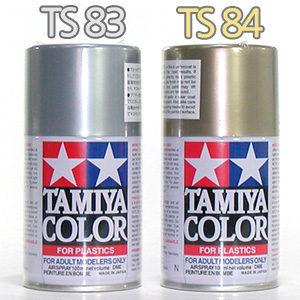 TAMIYA 스프레이 페인트 칼라 TS83   TS84 /메탈실버 메탈골드 특색 락카 컬러 도색 캔 도료 TS스프레이이