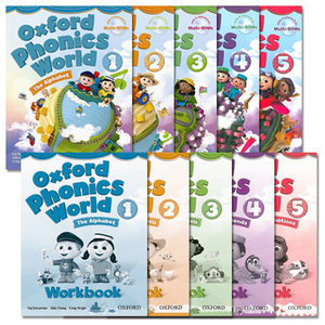 Oxford Phonics World 1/2/3/4/5 Student Book With Multi-Rom  Workbook  Readers  레벨별 선택/추가구매
