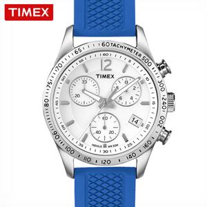 타임앤터치 TIMEX 타이맥스 정품 크로노그래프 여성용 스포츠시계 T2P064