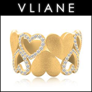 VLIANE 브리앙 18K 러블리 다이아몬드 반지