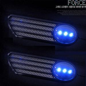 니켄포스 휀다 LED 크롬몰딩 에어덕트 디자인 시그널 미등 사이드 차량용  조명 필립스 오스람 언더네온