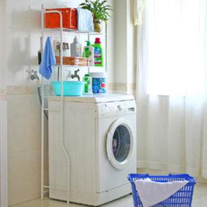 화이트 세탁기 선반/자인/의류행거/욕실선반