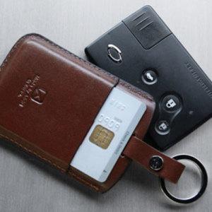 AG 르노삼성 카드포켓 파우치 3/4버튼 SM5/뉴SM5/SM7/뉴아트/올뉴SM7/SM3/QM5 스마트키홀더 카드지갑
