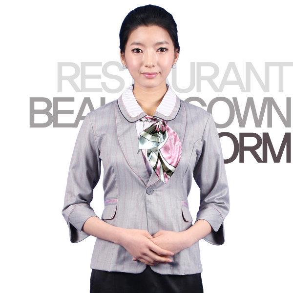 DR02_여성블라우스 칠부 유니폼/사무실/근무복/자켓/블라우스/수트/정장/가운/은행/단체복